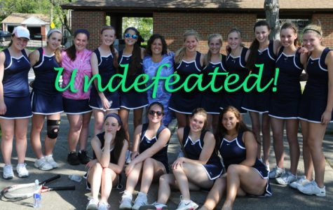 Girls JV tennis sweeps tournament, ends season undefeated