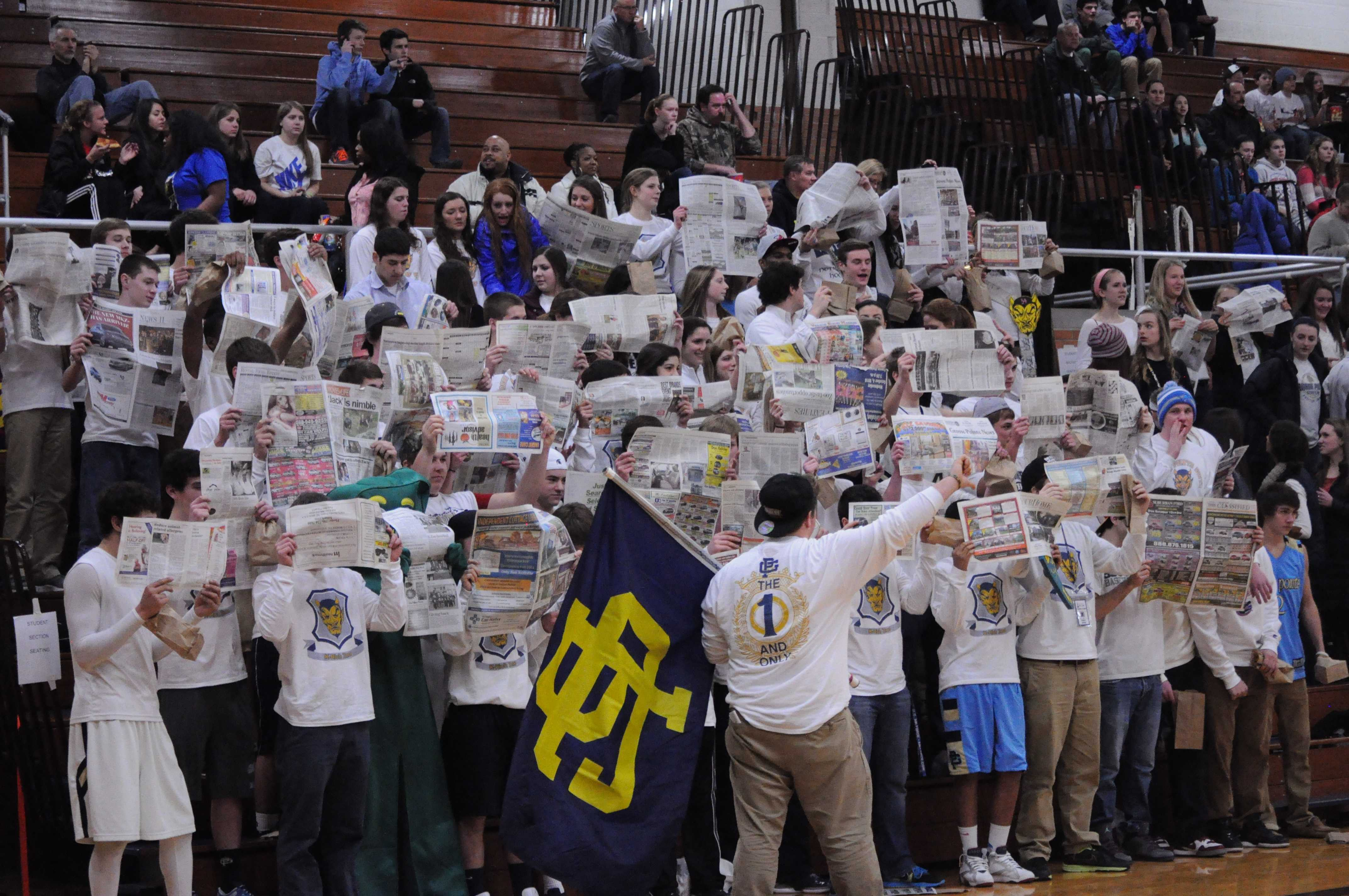The student section couldn't get enough of The Tower