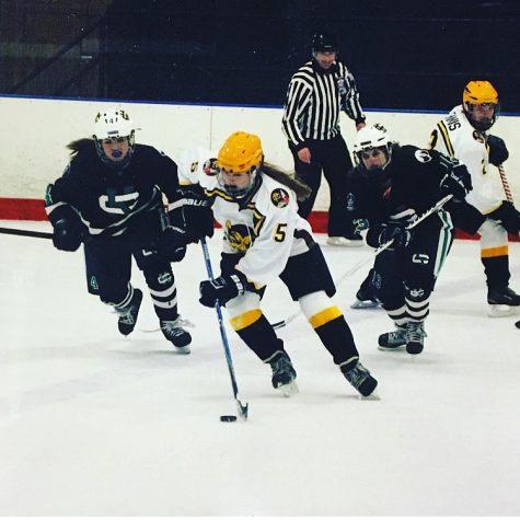 Girls varsity hockey defeats Plymouth Canton