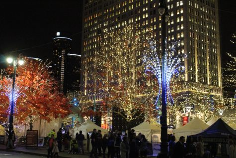 Student reflects on tree lighting ceremony at Campus Martius