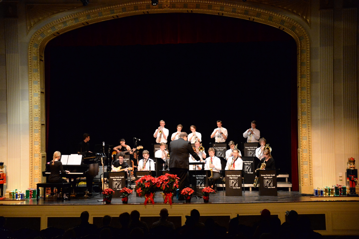 The South Jazz Band played at the Yule Be Boppin' Concert on Dec. 9. The Jazz Band rehearses at least twice per week, sometimes for more than two hours at a time.
