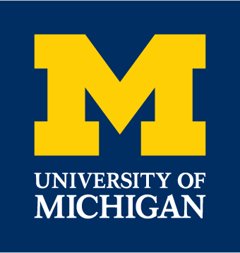 University of Michigan logo. University of Michigan has partnered with Google to aid citizens of Flint and the water crisis within the city.