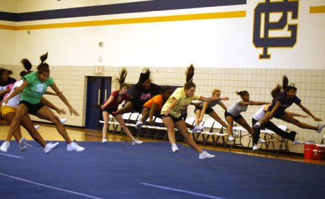 Cheerleading switches gears to competive season