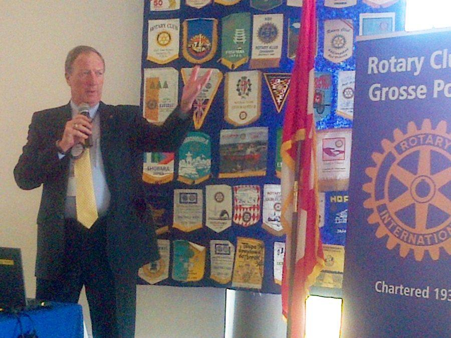 Getting+Involved+%2F%2F+Dr.+Gary+Niehaus+was+the+invited+speaker+at+the+Grosse+Pointe+Rotary+Club+meeting+on+Monday%2C+Aug.+24.+Neihaus+was+a+Rotarian+at+the+Charleston+Rotary+Club+in+Illinois+before+moving+to+Grosse+Pointe.