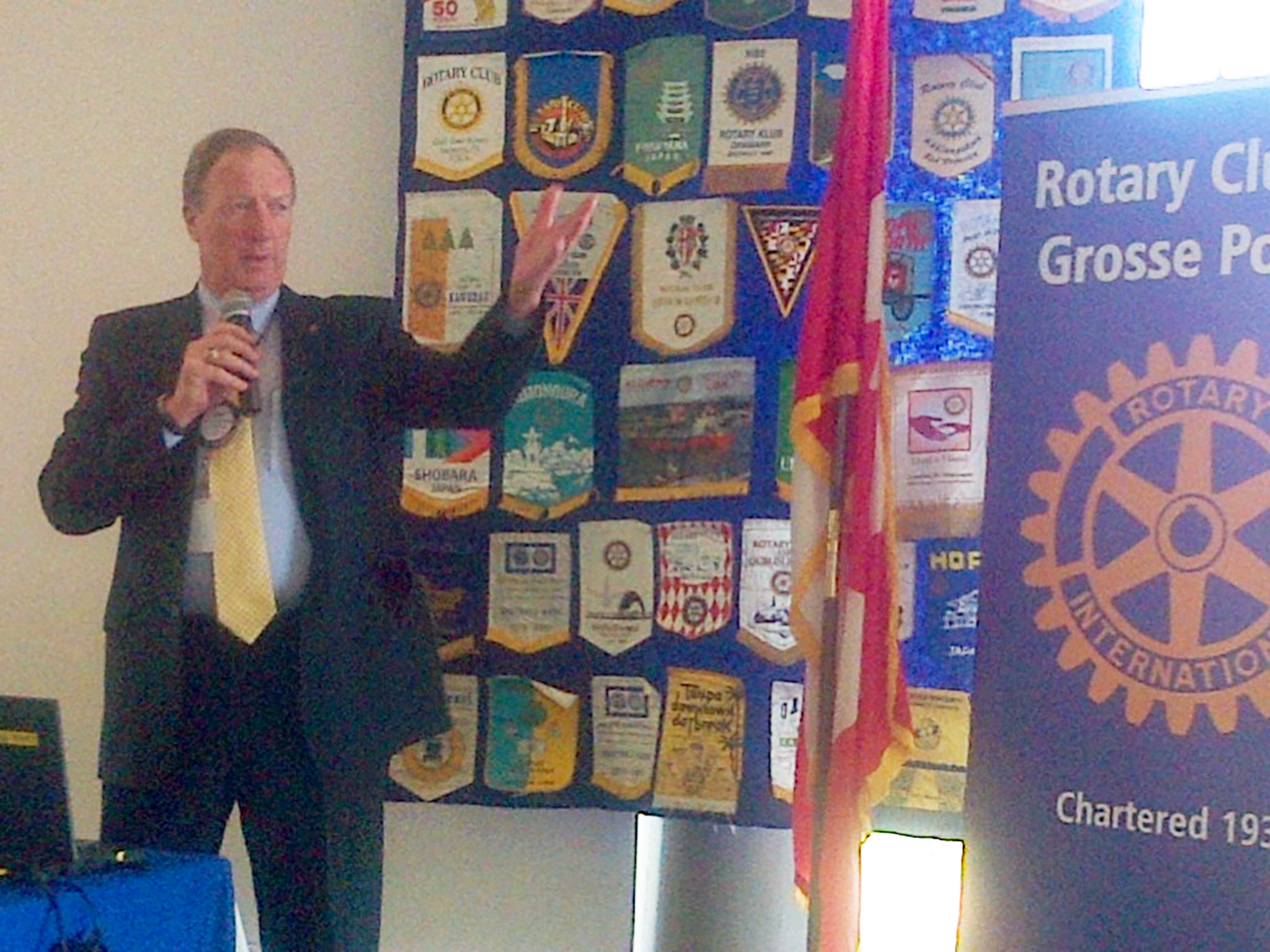 Getting Involved // Dr. Gary Niehaus was the invited speaker at the Grosse Pointe Rotary Club meeting on Monday, Aug. 24. Neihaus was a Rotarian at the Charleston Rotary Club in Illinois before moving to Grosse Pointe.