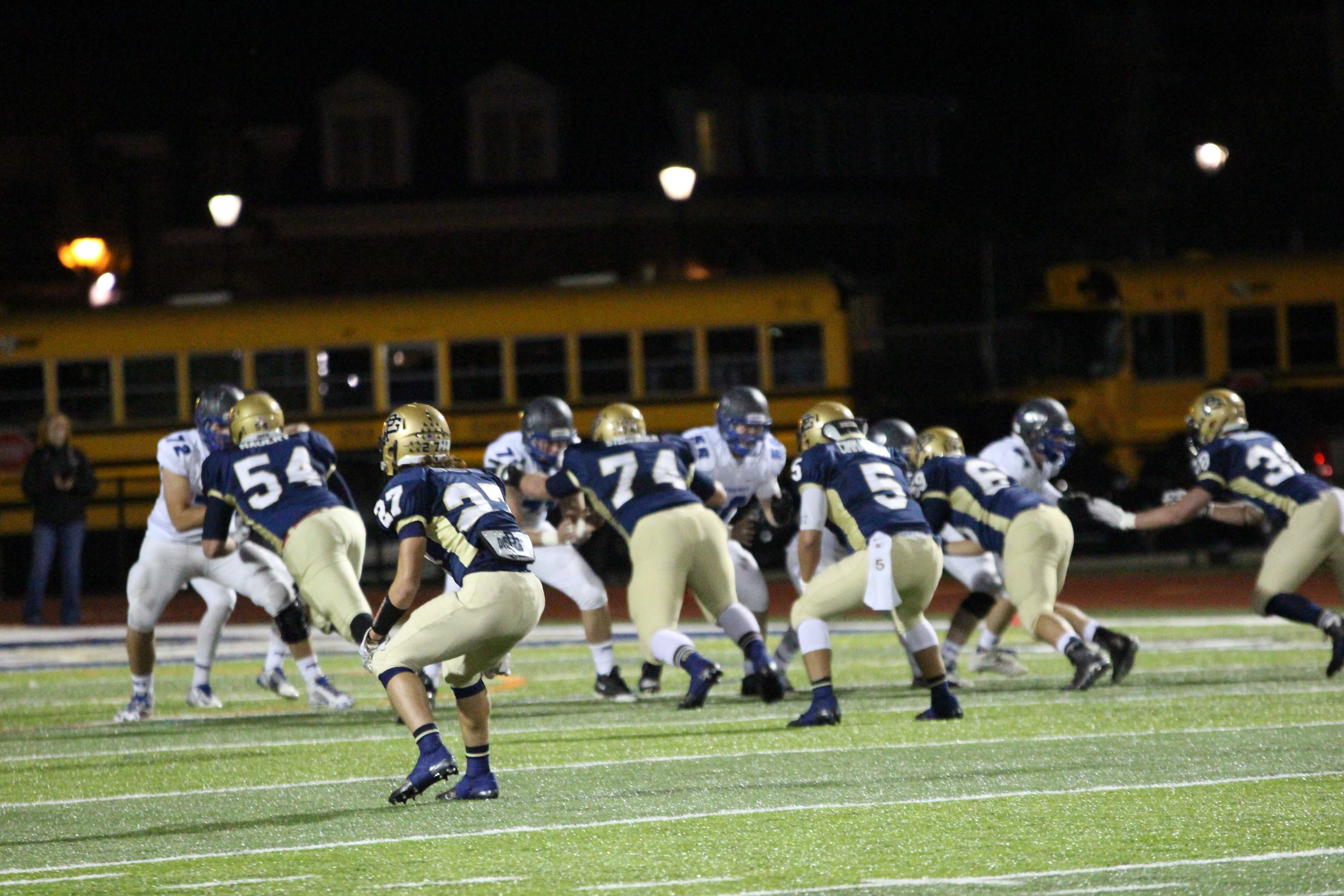 The South Varsity Football team has advanced to the playoffs this year.  The playoff game will be held on Oct. 30 in Sterling Heights.