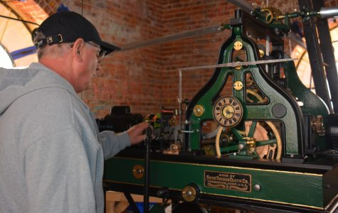 Time for a change: Historic clock in the tower is restored