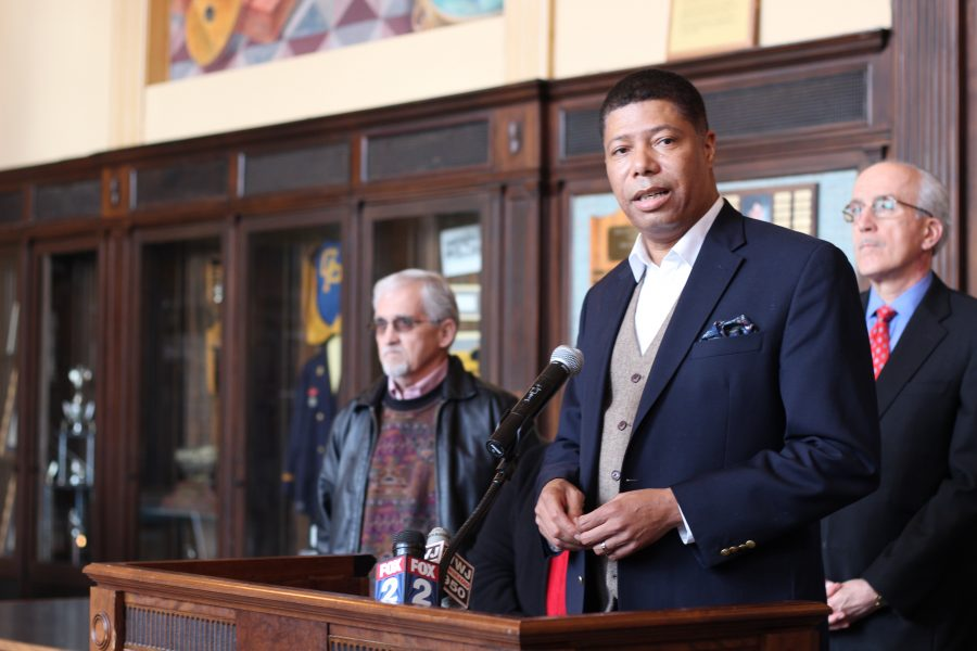 Greg Bowens, President of the Grosse Pointe - Harper Woods Chapter of the NAACP, spoke in Cleminson Hall on March 16.  He touched on recent incidents of racism in Grosse Pointe after a social media scandal involving racial slurs.