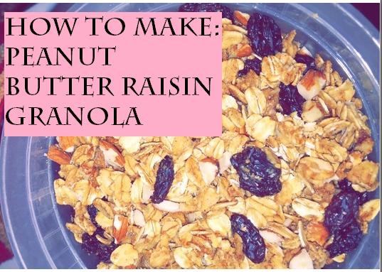 How to make peanut butter-raisin granola