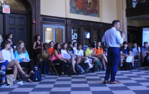 On Thursday, June 2, Principal Moussa Hamka and other administrators hosted two forums regarding racism during both lunches. Photos by Erykah Benson '17.