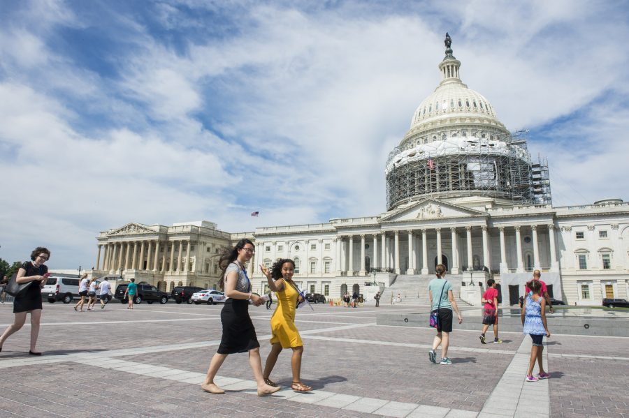 Erykah Benson 17 and her roommate and representative of Kentucky Emily Liu 17  (Photo courtesy of the Newseum Institute)