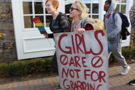 Students promote awareness for LGBT and women's rights.