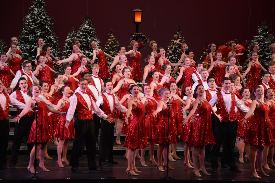 Grosse Pointe South choir performed Sounds of the Season on Thursday, Dec. 8. The show was sold out.