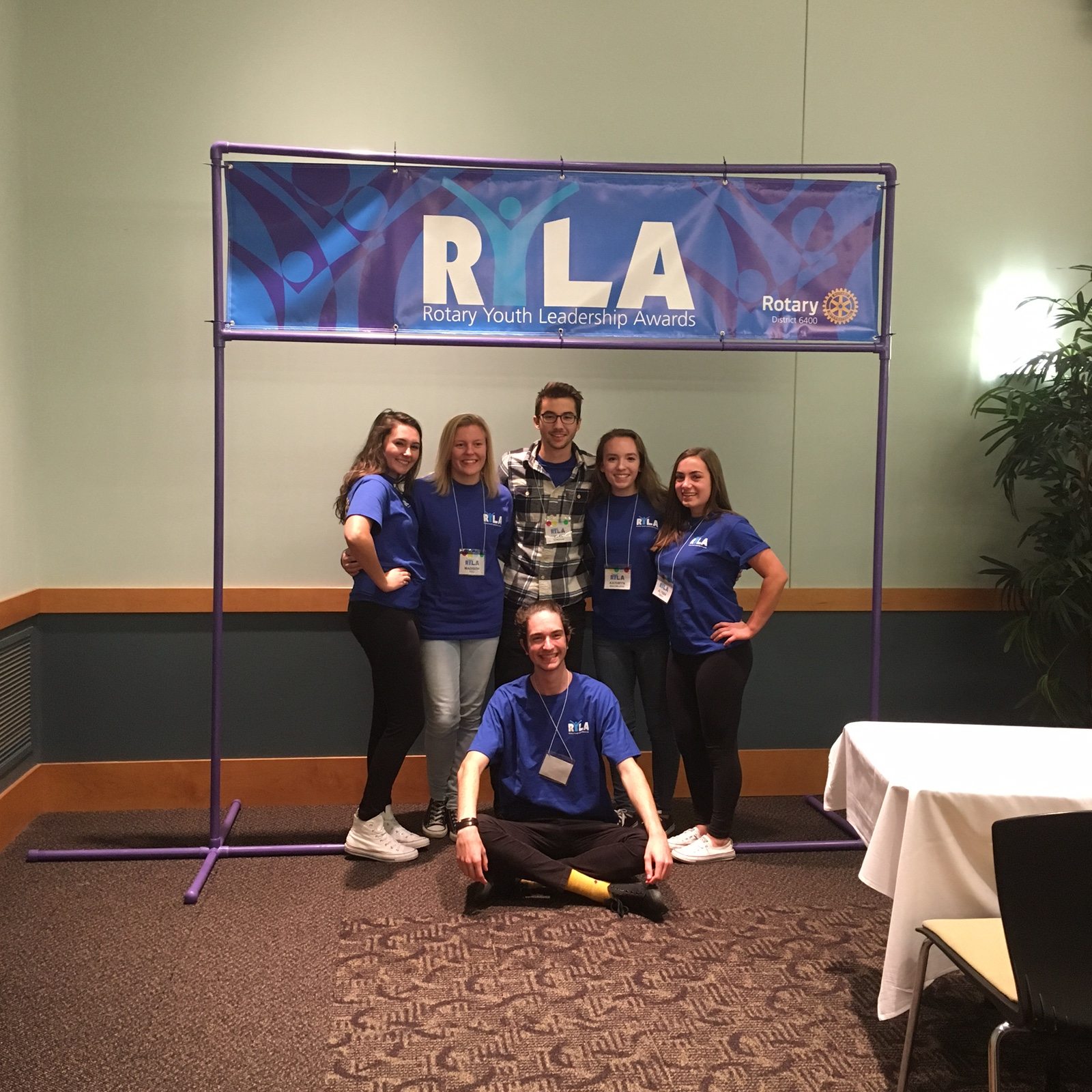Alyssa Czech '19 with some friends at the Rotary Youth Leadership Awards. Photo by Alyssa Czech '19