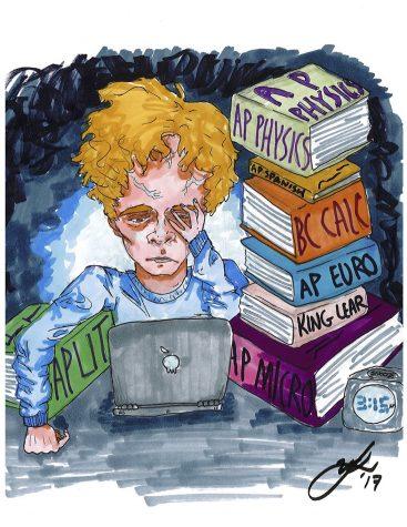 Cartoon by Riley Lynch '18