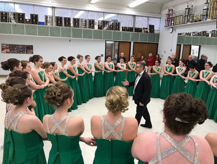 The+South+choir+in+a+circle+before+their+competition+in+Findlay%2C+Ohio+Friday.+