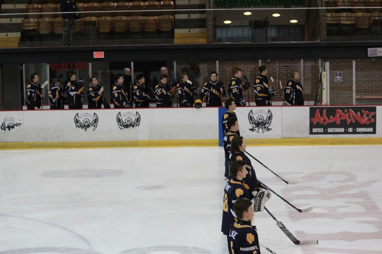 South lines up before the game starts. Photo by Jack Roma '17.