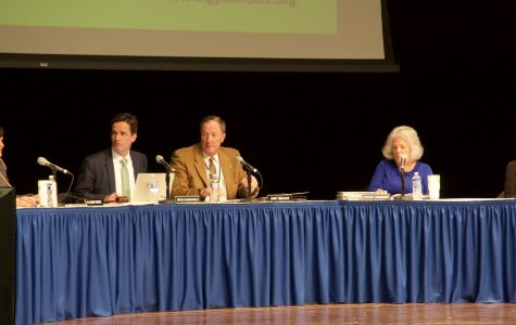 The school board meeting where the district discussed its deficit.