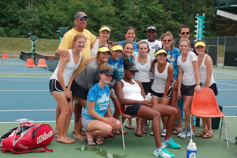 The+girls+varsity+tennis+team+after+their+tournament+last+weekend.+Photo+from+Rachel+Harris+%2718.