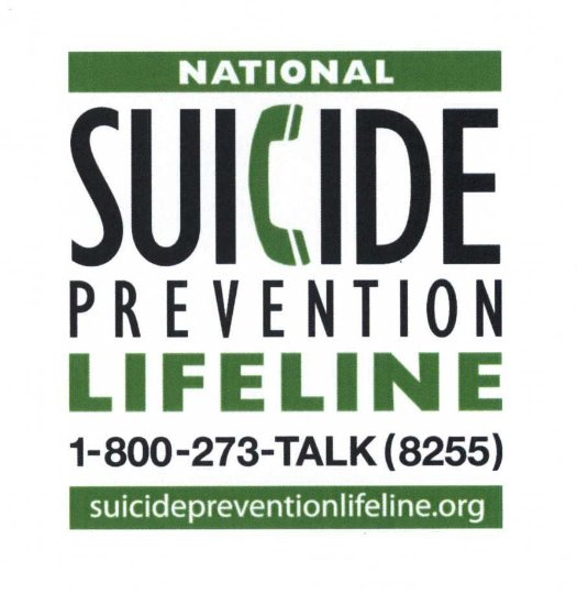 Graphic courtesy of the National Suicide Prevention Lifeline.