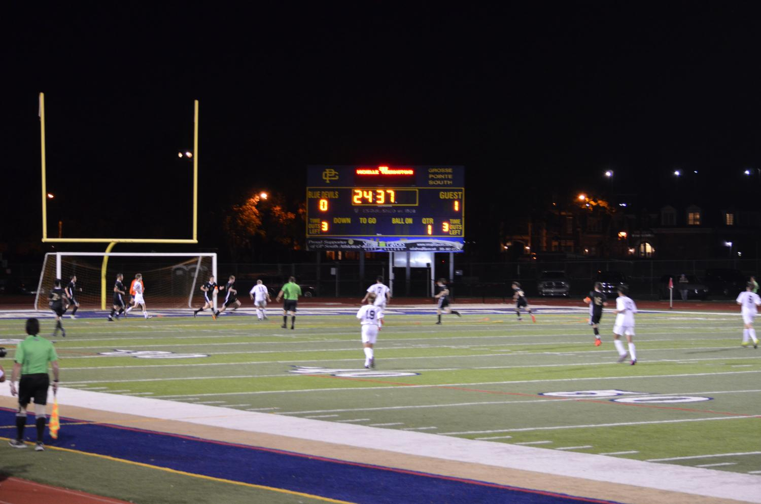 Grosse Pointe South played North at the Veterans Game on October 11. The Norsemen won 4-1.