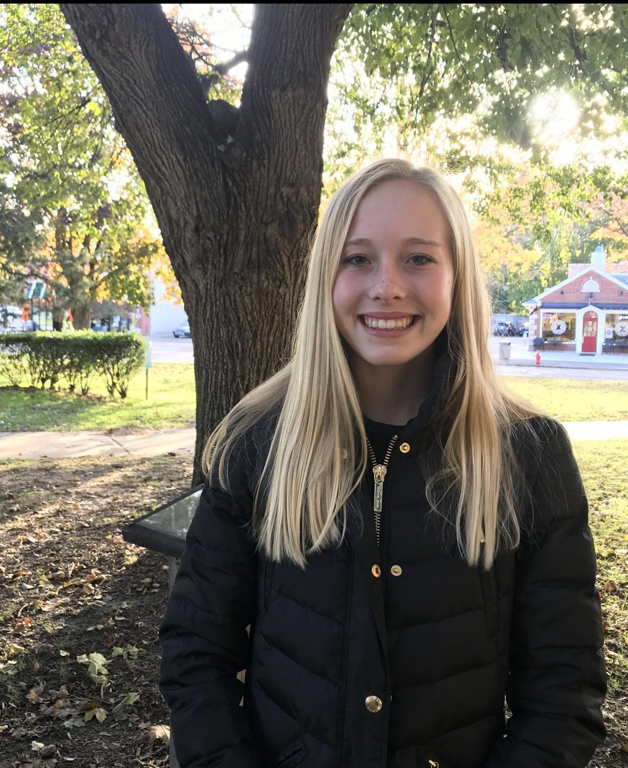 Olivia Stricker '20 enjoys the spirit of giving. She dedicates large amounts of her time in the winter to serving her community and those in need.
