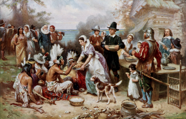A+painting+of+the+first+Thanksgiving.+Photo+courtesy+of+Creative+Commons.
