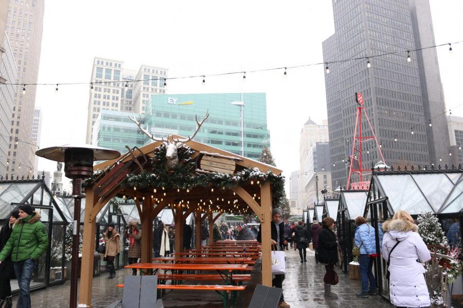 Winter fun brought downtown with pop-up Cadillac Holiday Market