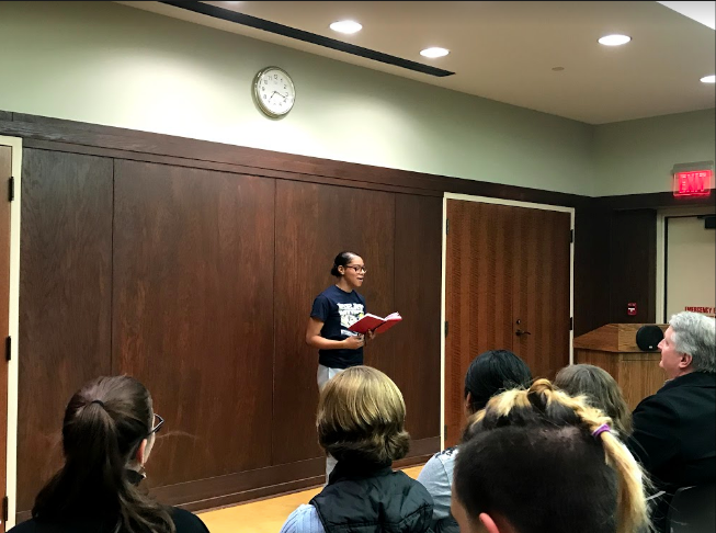 South students shared, laughed and cried over poems performed at the Day-Before-Valentine's Day poetry slam and open mic