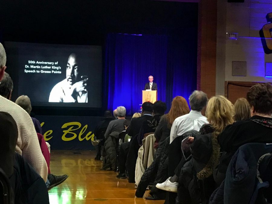 Robert+Bury+speaks+at+the+MLK+commemoration+event+that+took+place+on+March+14.