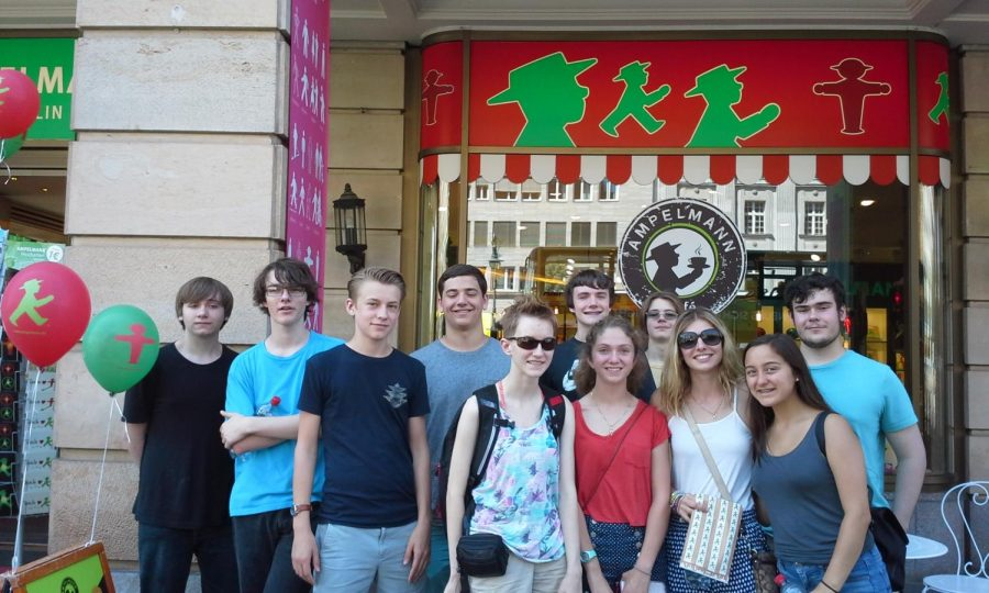 German students who went to Germany on the previous school trip.