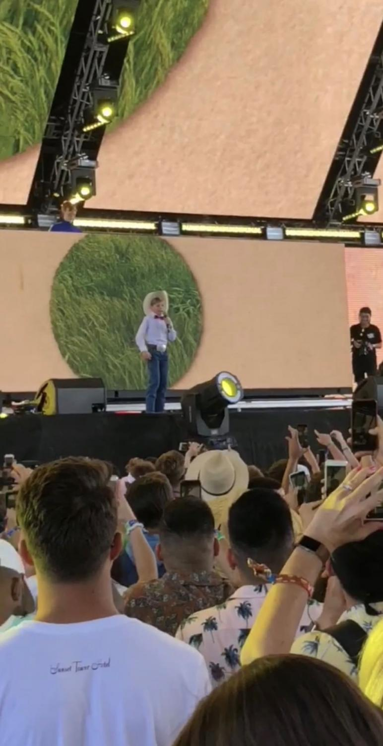 Mason Ramsey preforming at Coachella