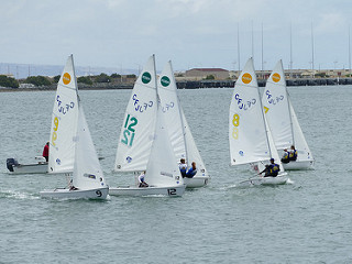 South's sailing team competes in team racing at the Baker National Championship regatta in San Diego, California