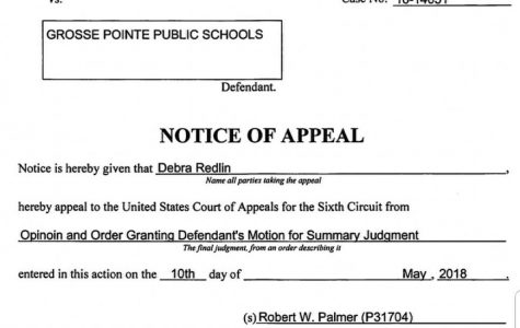 Redlin filed an appeal against the judge's decision to dismiss the case on June 1. The case will go to the United States  Court of Appeals, Sixth Circuit, in Cincinnati.