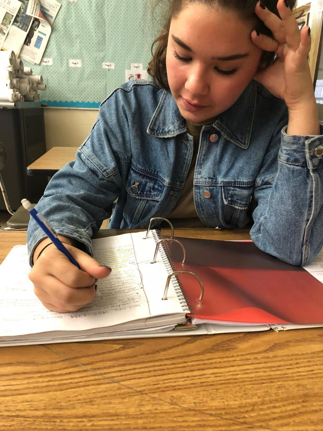 Student studying for the PSAT.
