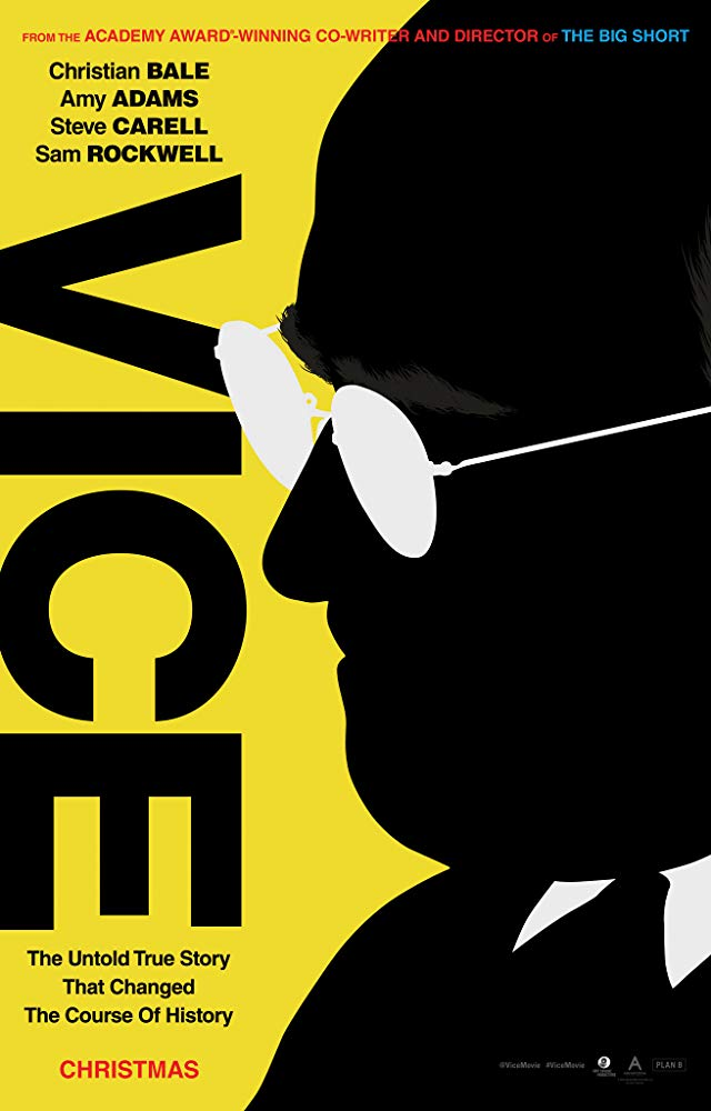 Vice was released in theatres on December 25, 2018. Photo courtesy of IMDB.