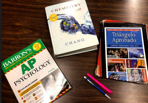 High school books used to prepare students for the college classes they may take in the future.