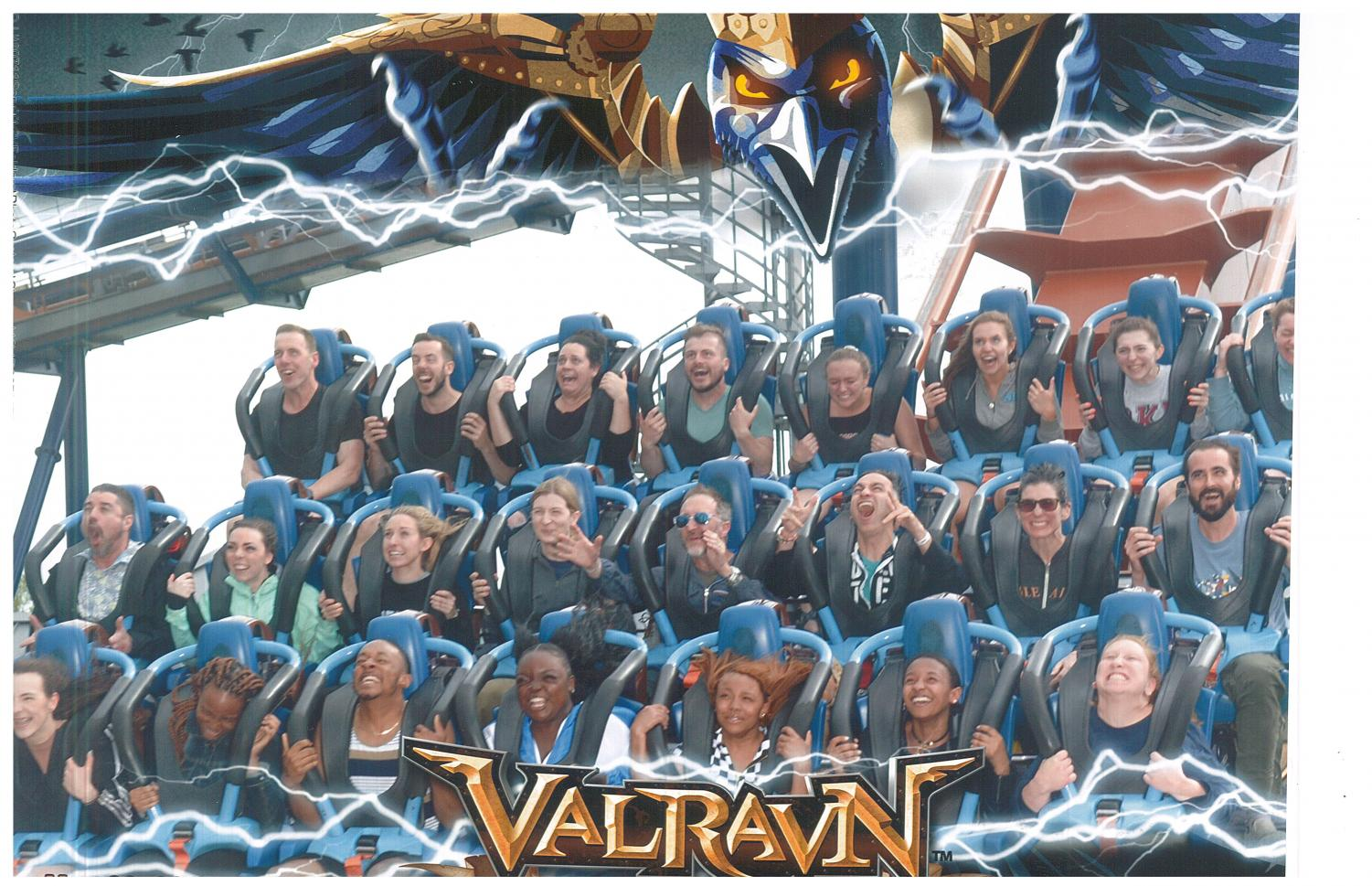 South teachers take on the Valravn at Cedar Point. Photo courtesy of Troy Hernandez.