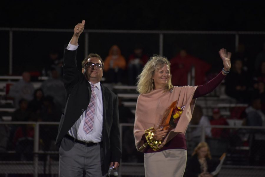 The+Boudas+take+the+field+during+the+Homecoming+game+on+Sept.+28+to+be+recognized.+Photo+by+Zach+Farrell+%2721.