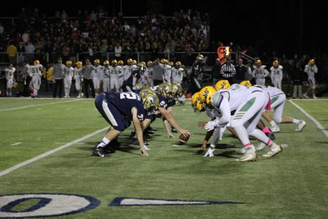 The Blue Devils faceoff against Grosse Pointe North  Oct. 18. The Blue Devils have lost only two games this season. Photo by Zach Farrell