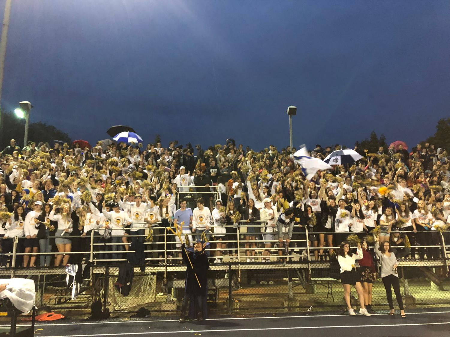 For the South homecoming game Devils Den expanded the student section, and the crowd was filled and wild.