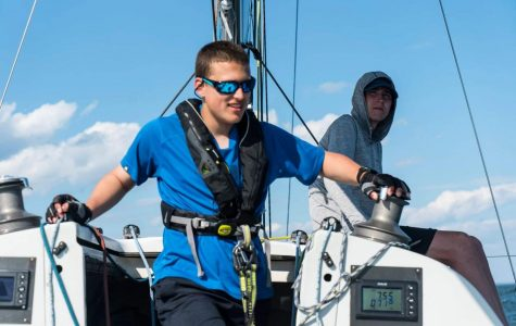 Beaming, Fritz Woerner '20 sets sail as Chief Engineer. Photo courtesy of Fritz Woerner