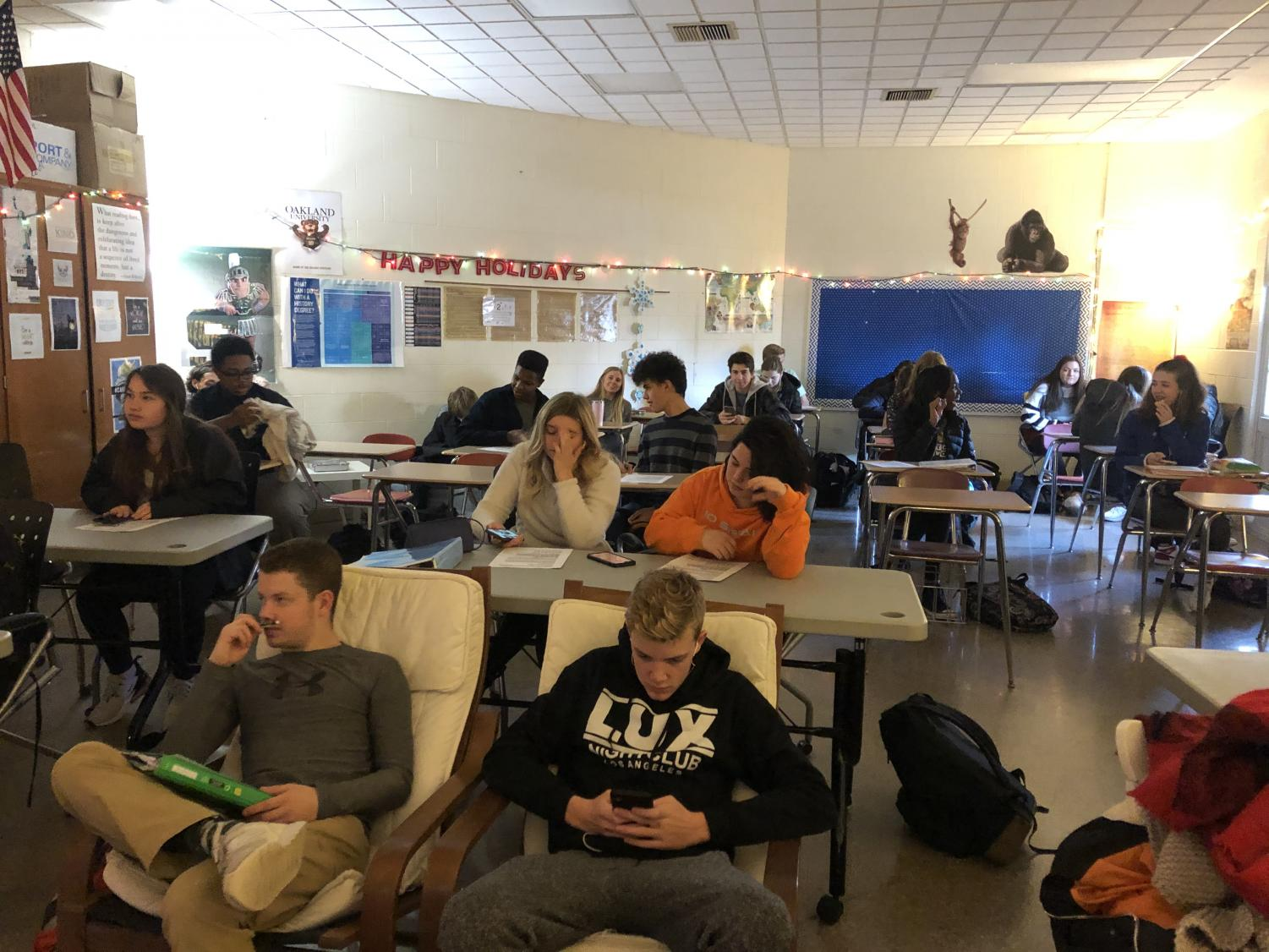 Students use their tutorials as a study hall