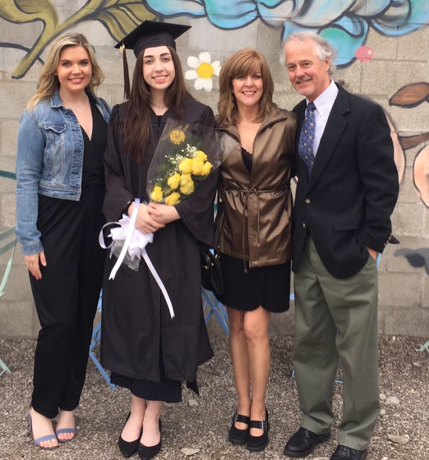 Margaret+Reese%2C+second+from+right%2C+at+her+daughter%27s+graduation.+Retirement+has+allowed+her+to+spend+more+time+with+her+family.