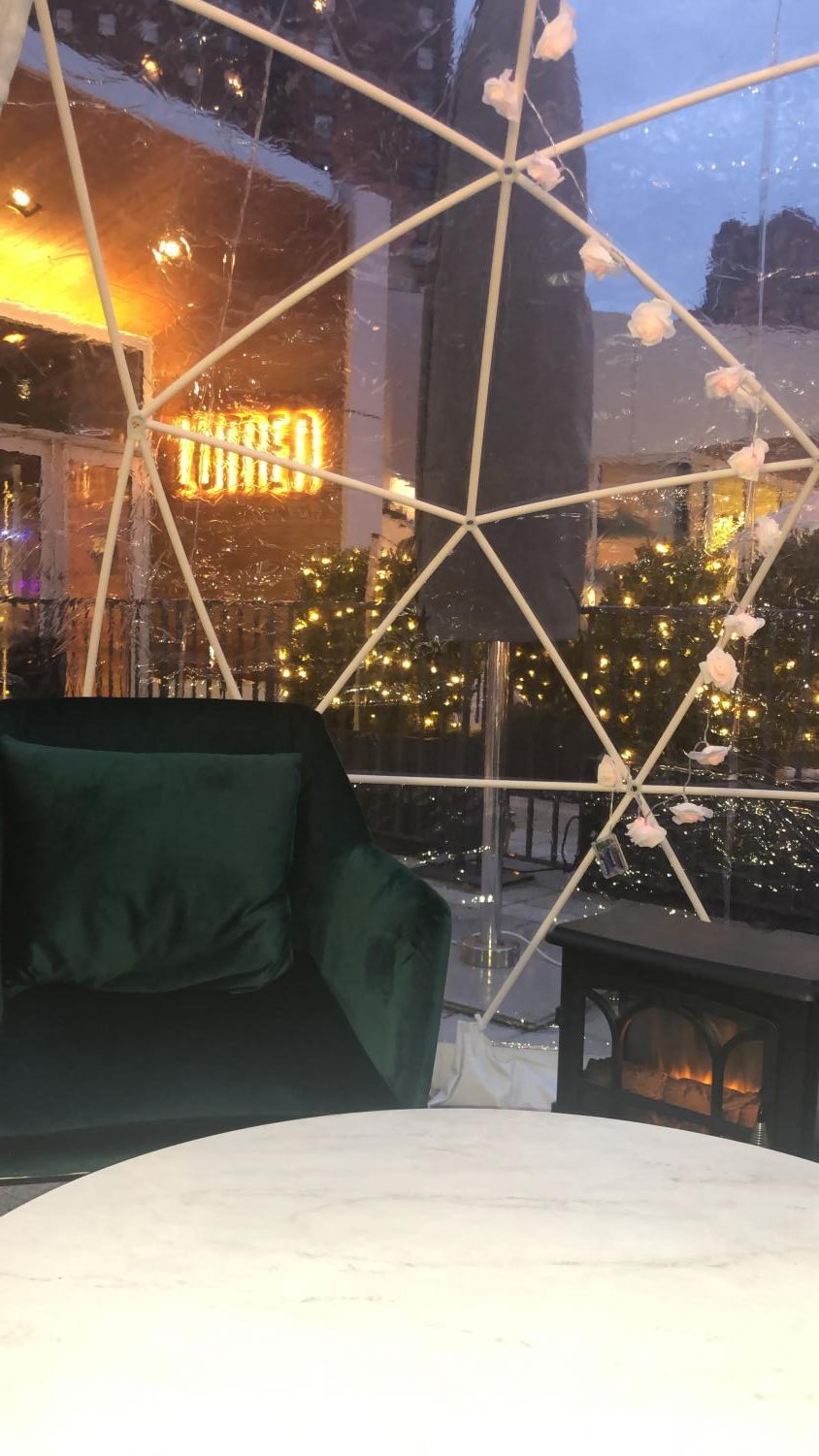 Lumen's heated igloos allow for a unique and spirited Detroit experience.