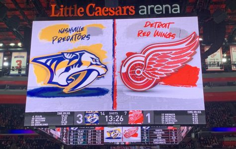 The NHL has suspended their season until further notice, including the Detroit Red Wings. Photo by Julia Gebeck '22.