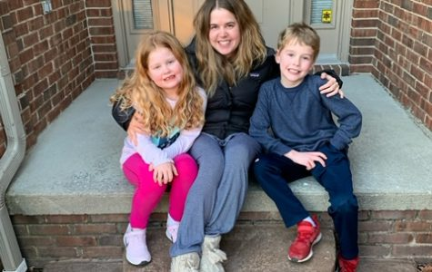 English teacher Erika Henk has worked hard to provide engaging lessons for her students while also being a mother to her two children. Photo courtesy of Erika Henk.