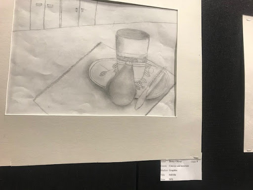 This piece, from last year's Artfest was by Betsy Oliver '21.