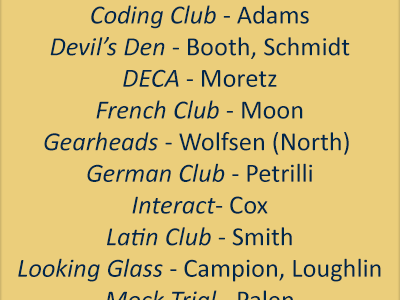 Rechartering clubs