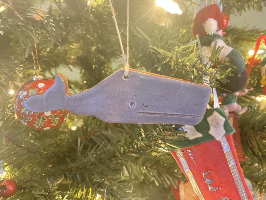 A clay whale ornament bought off of Etsy by Koch. Photo credits to Becca Koch '22.